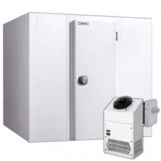 Tiefkühlzelle komplett mit Tiefkühlaggregat 100 mm Wandstärke, 144x114x215 cm