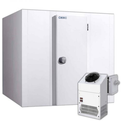 Tiefkühlzelle komplett mit Tiefkühlaggregat 80 mm Wandstärke, 120x120x201 cm